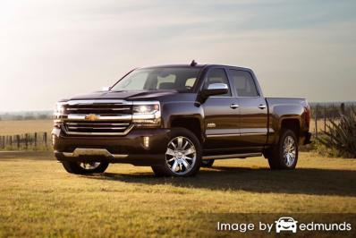 Insurance rates Chevy Silverado in Toledo