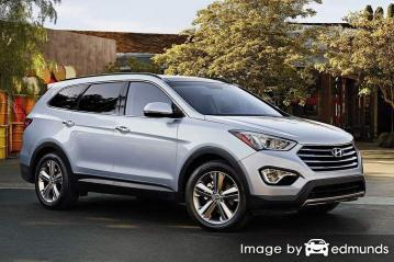 Insurance rates Hyundai Santa Fe in Toledo