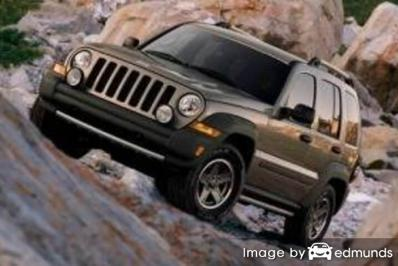 Insurance rates Jeep Liberty in Toledo