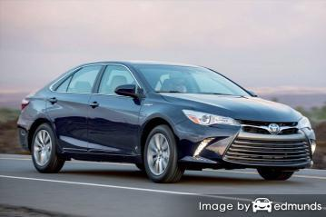 Insurance rates Toyota Camry Hybrid in Toledo