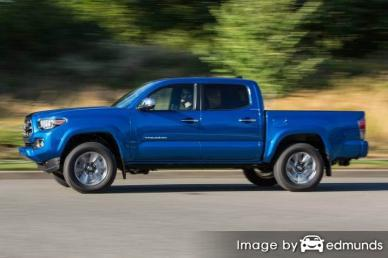 Insurance rates Toyota Tacoma in Toledo